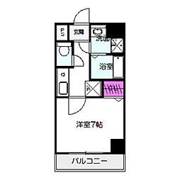 Osaka Metro今里筋線 太子橋今市駅 徒歩4分の賃貸マンション 8階1Kの間取り