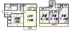 [一戸建] 東京都八王子市大和田町7丁目 の賃貸【/】の間取り