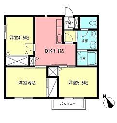湘南ハイツスガイ[2階]の間取り