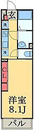 JR外房線 本千葉駅 徒歩10分の賃貸マンション 1階1Kの間取り