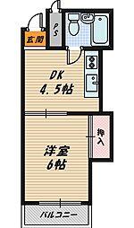 シャトー野江[6階]の間取り