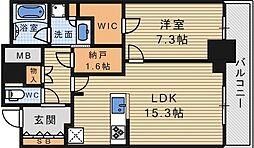 大阪ひびきの街 ザ・サンクタスタワー[6階]の間取り