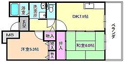 香里ヶ丘みずき街 3号棟[6階]の間取り