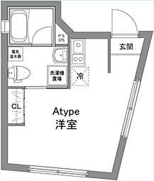 京王線 上北沢駅 徒歩8分の賃貸マンション 1階ワンルームの間取り