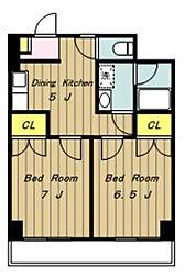 プリムローズハウス[8階]の間取り