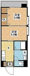 長崎県長崎市西山2丁目の賃貸マンションの間取り