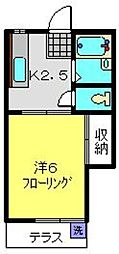 ハイツコジマ[102号室]の間取り