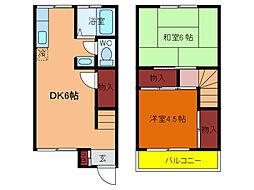 [テラスハウス] 千葉県柏市あけぼの3丁目 の賃貸【/】の間取り