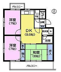 グリーンパレス柿木S[2階]の間取り