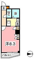 KM大元駅前[606号室]の間取り