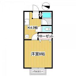 埼玉県さいたま市桜区中島3丁目の賃貸アパートの間取り