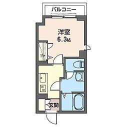 Menlo Park Residence 2階1Kの間取り