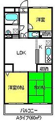 埼玉県さいたま市大宮区天沼町1丁目の賃貸マンションの間取り