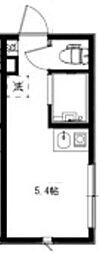 JR山手線 高田馬場駅 徒歩8分の賃貸アパート 1階ワンルームの間取り