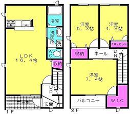 [テラスハウス] 兵庫県加古川市加古川町溝之口 の賃貸【/】の間取り