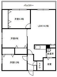 北海道札幌市豊平区月寒西二条10丁目の賃貸マンションの間取り