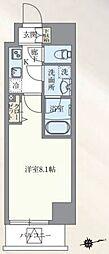 東京メトロ丸ノ内線 本郷三丁目駅 徒歩7分の賃貸マンション 12階1Kの間取り