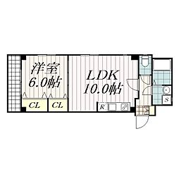 Liguria弐番館(リグーリアニバンカン)[1階]の間取り