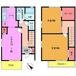 [テラスハウス] 東京都葛飾区奥戸5丁目 の賃貸【/】の間取り