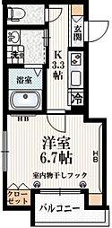 JR総武線 千駄ヶ谷駅 徒歩8分の賃貸マンション 3階1Kの間取り
