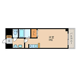 滋賀県東近江市中小路町の賃貸アパートの間取り