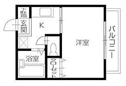 徳島県徳島市津田町3丁目の賃貸アパートの間取り