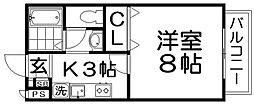 アンシャンテ香里[2階]の間取り