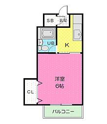和泉第二マンション[3階]の間取り