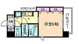 アクアプレイス梅田III[8階]の間取り
