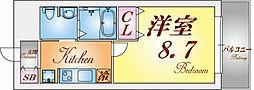 エクセルコート神戸長田[7階]の間取り