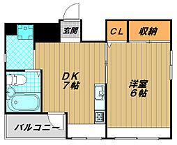 グリーンヒル新長田[3階]の間取り