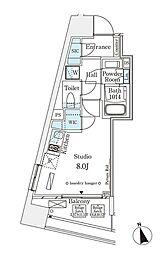 パークナードフィット南青山Vista 9階ワンルームの間取り