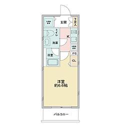 京成本線 お花茶屋駅 徒歩5分の賃貸マンション 1階1Kの間取り