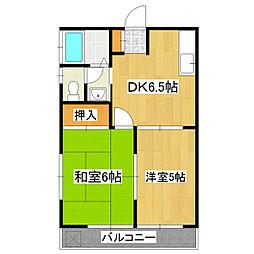 テラス・パルセ[2階]の間取り