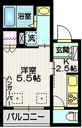 (仮称)下目黒3丁目メゾン 3階1Kの間取り