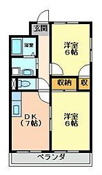 ロイヤルコート東巽[5階]の間取り