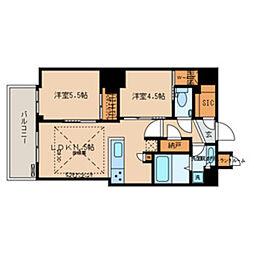 都営三田線 春日駅 徒歩1分の賃貸マンション 15階2LDKの間取り