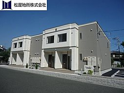 愛知県豊橋市下地町字天神の賃貸アパートの外観