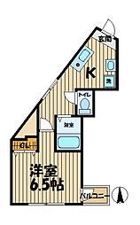 神奈川県横浜市栄区公田町の賃貸マンションの間取り
