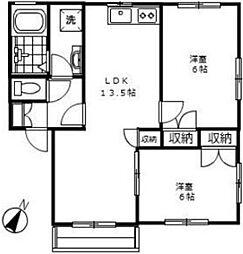 サンパティークC[2階]の間取り