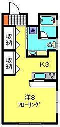 ヒルズT・K[102号室]の間取り