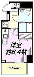 JR中央線 豊田駅 徒歩2分の賃貸マンション 10階ワンルームの間取り