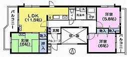 エスポワール大泉学園[1階]の間取り