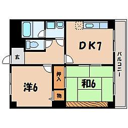 滋賀県栗東市霊仙寺1丁目の賃貸マンションの間取り
