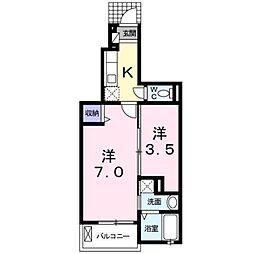 マリーゴールド[1階]の間取り