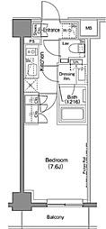 東京メトロ日比谷線 仲御徒町駅 徒歩3分の賃貸マンション 3階1Kの間取り