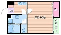 キュービック[3階]の間取り