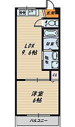 M'プラザ城東弐番館[3階]の間取り