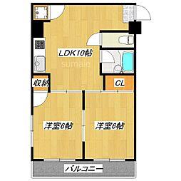 ローヤルマンション[5階]の間取り