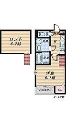 プランドールlei[1階]の間取り